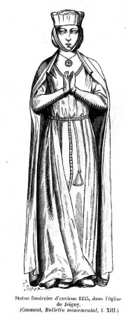 Funeral statue c. 1215 from the church of Joigny