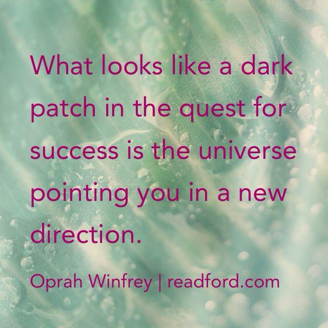 Oprah inspirational quote   universe