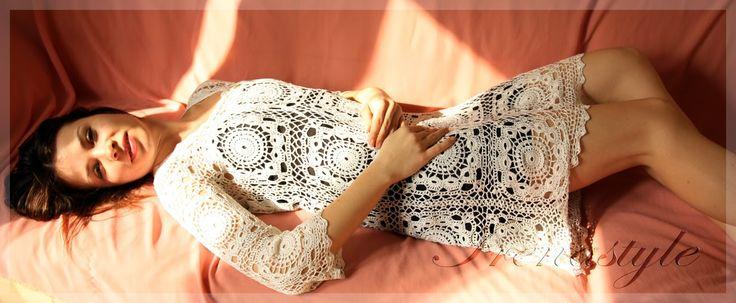 Crochet Story & Irenastyle: Cocktail dress