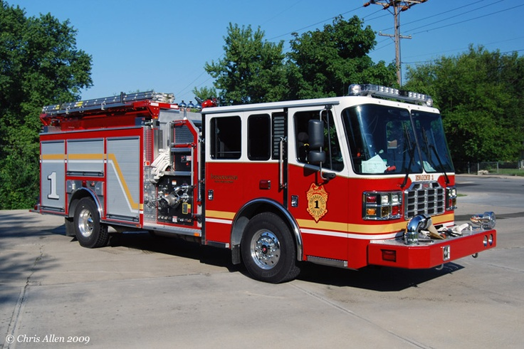 Indianapolis, IN FD Engine 1 Ferrara Pumper. Fire