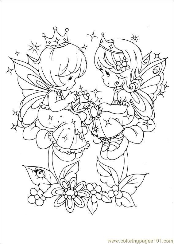 Coloring Pages Precious Moments 25 (Cartoons > Precious moments) - free printable coloring page online