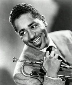 "Dizzy Gillespie ~ Early on, all too often the target of a racist comment, Dizzy was known to remain cool and calm, totally disregarding their ignorance.  This picture was taken around the time of an oft told incident:  Diz was overheard finally responding to racist remarks by saying,""You cur you!""  the white guy began slowly walking away with a confused look, mumbling under his breath, ""huh?...what does that mean?"""