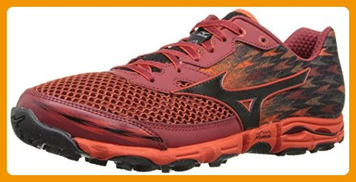 Mizuno Men's Wave Hayate 2 Running Shoe, Orange/Black, 12 D US