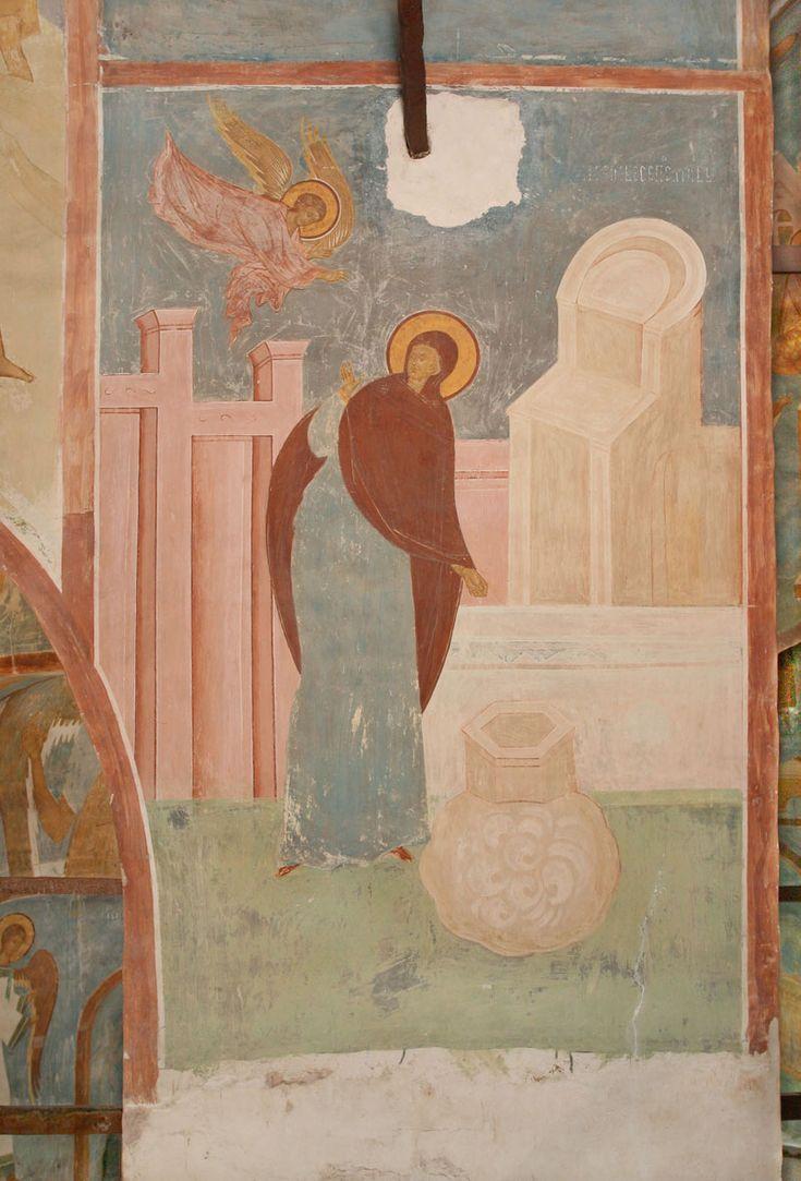 «Ангел предстатель с небесе послан бысть...» (Акафист. Икос 1) Разрез по центральному поперечному нефу. Вид на восток