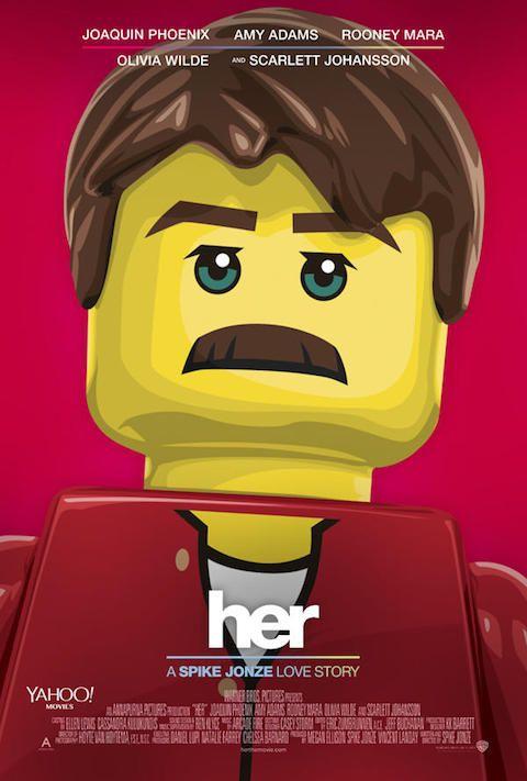 Her - Carteles de películas nominadas al Oscar 2014 recreados con LEGO