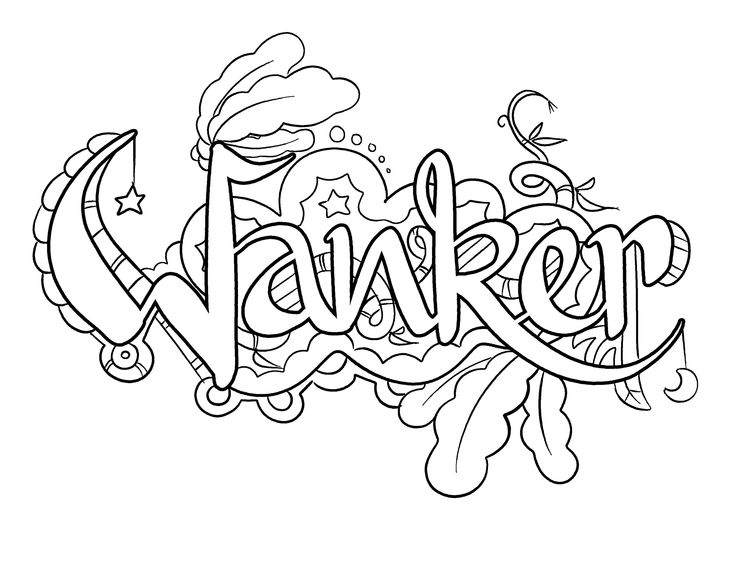 wanker coloring page by colorful language posted with permission