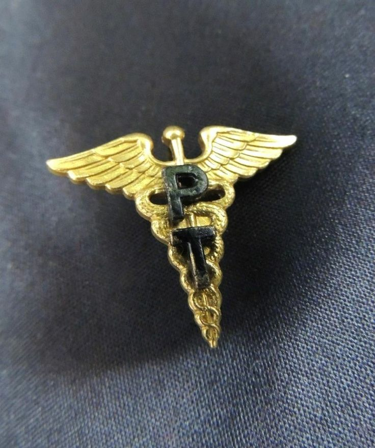 Wwii Military Rank Insignia Doctor Medic Caduceus Physical