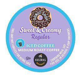 DONUT SHOP SWEET AND CREAMY ICED COFFEE K CUP 88 COUNT Coffee People http://www.amazon.com/dp/B00BZJUYU6/ref=cm_sw_r_pi_dp_IG1Ktb01BTW886M6