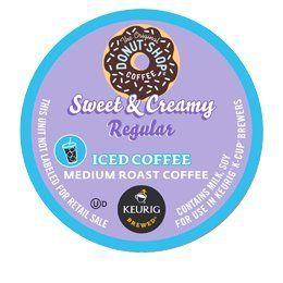 DONUT SHOP SWEET AND CREAMY ICED COFFEE K CUP 88 COUNT Coffee People http://www.amazon.com/dp/B00BZJUYU6/ref=cm_sw_r_pi_dp_IG1Ktb01BTW886M6