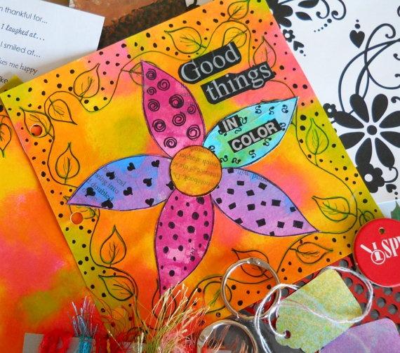 Art Journal Kit: Art Journal, Color Art, Art Journals Pages, Good Things, Art Inspiration, Journals Ideas, Art Supplies, Journals Art, Bright Colors