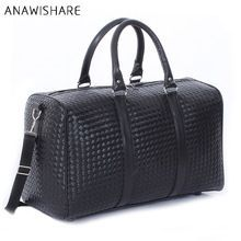 ANAWISHARE Men Travel Bags Large Capacity Women Luggage Travel Duffle Bags Pu Leather Travel Handbags Waterproof Trip Travel Bag(China)