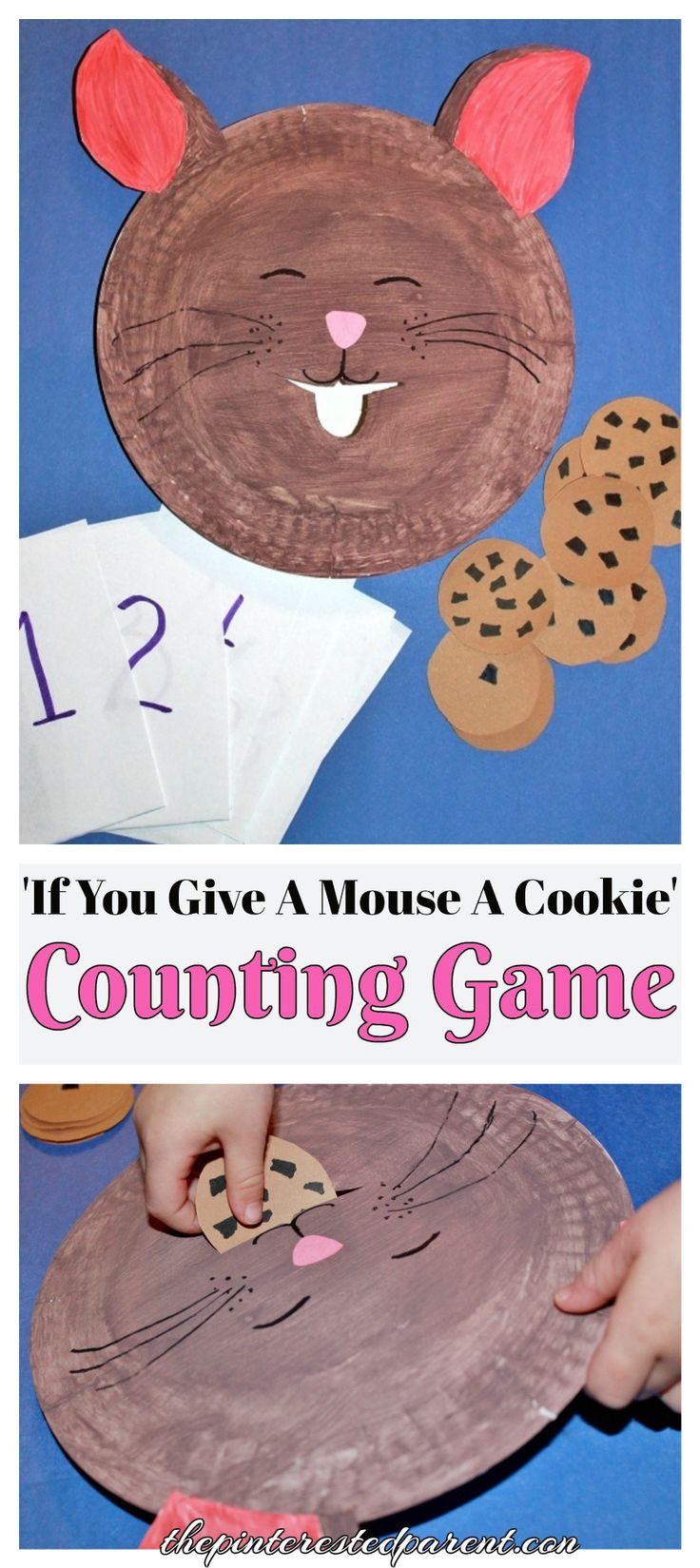 'If You Give A Mouse A Cookie' Counting & Feeding Game - Paper Plate Craft & Activity