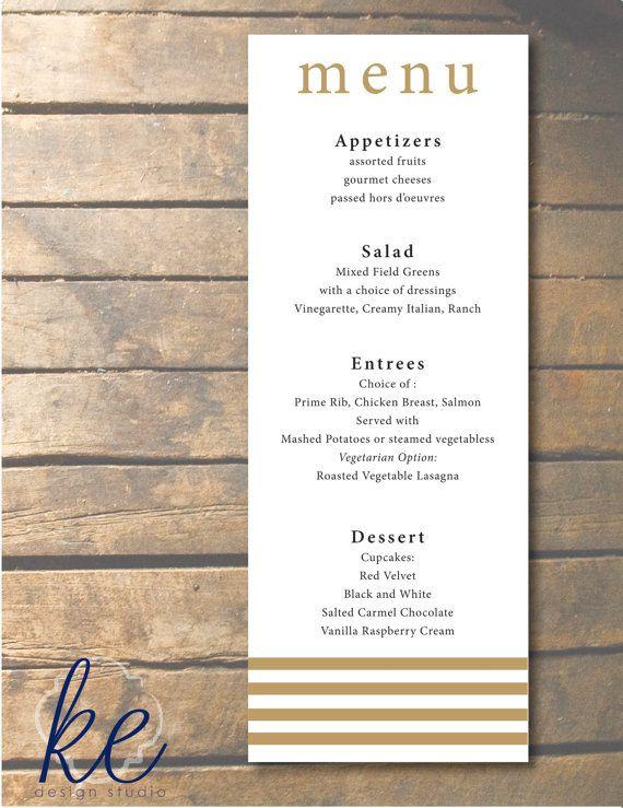 tudor menu template - special event dinner menus set of 24