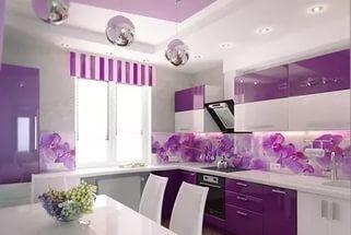 Фиолетовая и сиреневая кухня: яркие идеи с фото примерами интерьеров.