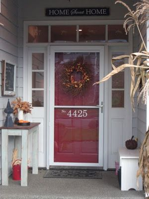 House Numbers...love paint & numbers. Work great with my storm door