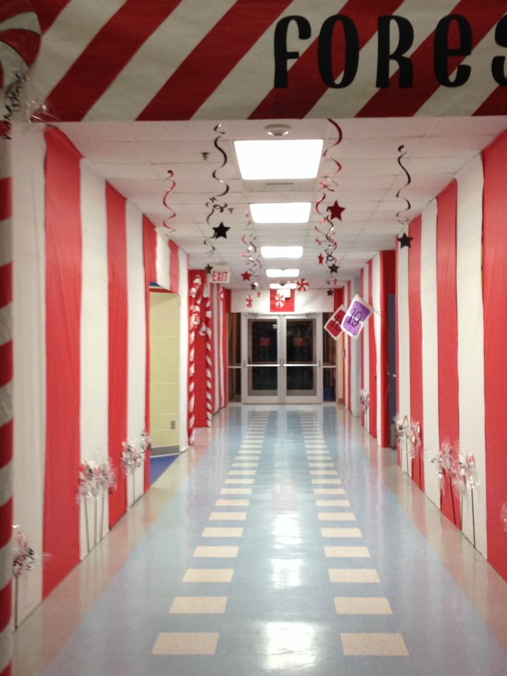 20 best candy land christmas decorations work images on How to decorate your hallway for christmas