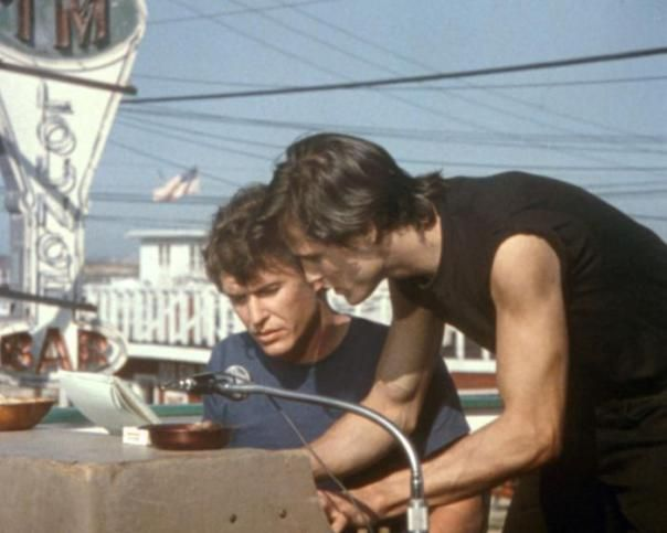 "Tom Berenger and Michael Paré in ""Eddie and the Cruisers"""