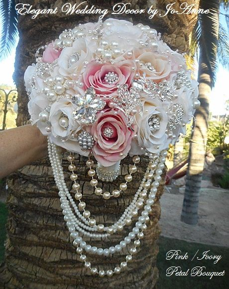 Hey, I found this really awesome Etsy listing at https://www.etsy.com/listing/222528479/petal-brooch-bouquet-pink-and-ivory