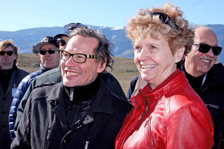 Local MLA Linda Larson was all smiles as Canadian racing legend Jacques Villeneuve brought her and many other race car enthusiasts on an extended tour of the proposed site of the Area