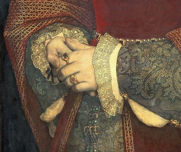 Портрет Джейн Сеймур (1536) третья жена короля Англии Генриха VIII Ганса Гольбейна Младшего Германский художник