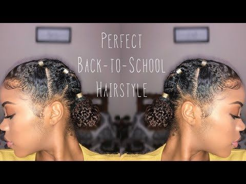 Bomb Protective Style On Natural Hair Perfect For Back To School Youtube Hair Styles Natural Hair Styles Easy Natural Hair Styles