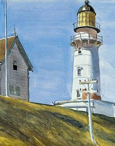 Lighthouse - (Edward Hopper)-   Although he was not alone in depicting lighthouses in his paintings, nevertheless Hopper was one of the few artists who made the tall structures the focus of his compositions and by doing so gave them an iconic presence.  For Hopper, lighthouses were majestic architectural structures and things of beauty.  His name was synonymous with depictions of lighthouses so much so that when Time magazine did a story about his life in their 1956 Christmas issue, the…