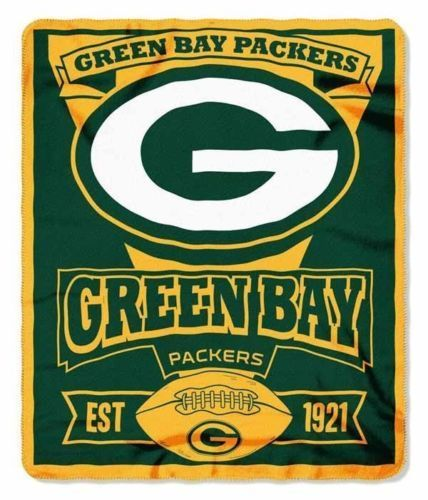 "NFL Green Bay Packers Team Marque Fleece Throw blanket 50"""" x 60"""" by Northwest"