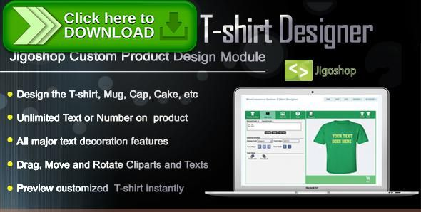 [ThemeForest]Free nulled download Jigoshop Custom T-Shirt and Product Designer from http://zippyfile.download/f.php?id=46861 Tags: ecommerce, custom product builder, custom t shirt design maker, image, Jigoshop product builder, Jigoshop product designer, Jigoshop t shirt designer, Jigoshop t shirt maker, logo, make my own t shirt, product print, shirt, tshirt, tshirt printing