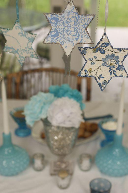 Channukah table setting ideas