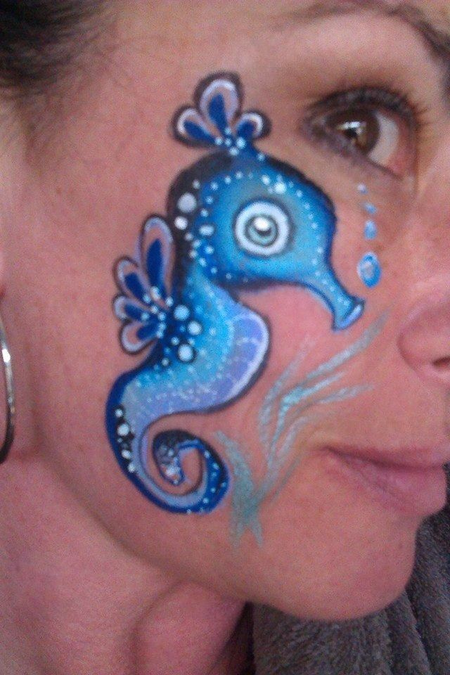 Sea horse, face paint