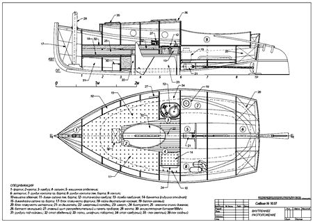 кэтбот чертежи catboat plans