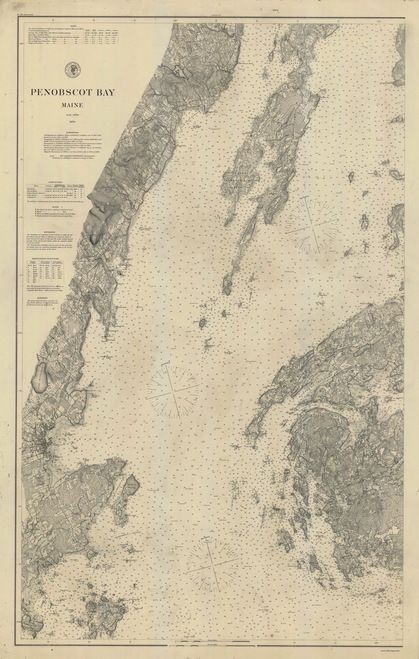 West Penobscot Bay 1876 D Old Map Nautical Chart Ac Harbors 3 310 Maine Penobscot Old Map Nautical Chart