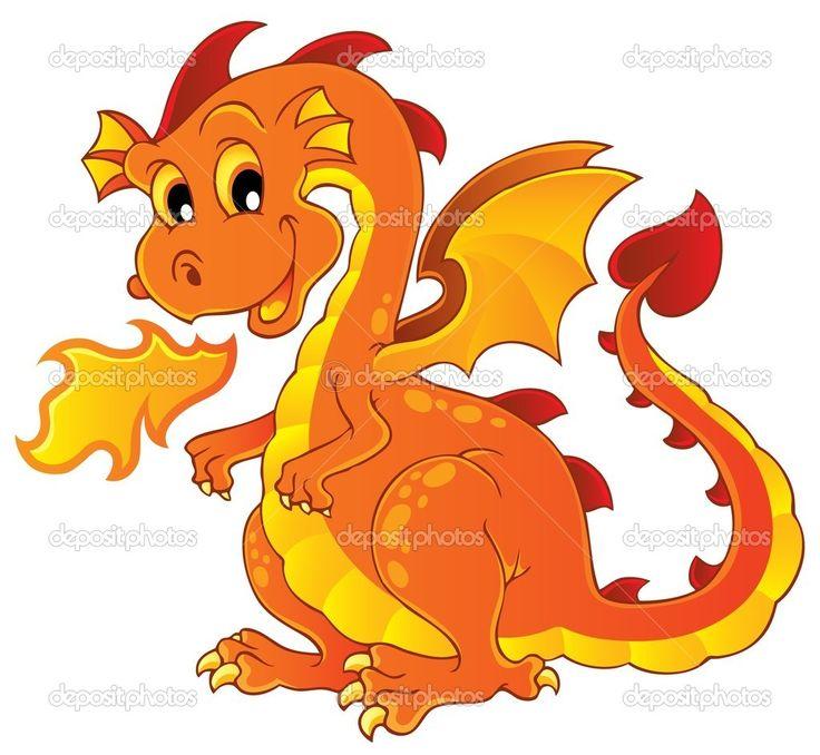 Изображение дракона Тема 7 - Стоковая иллюстрация: 12564919