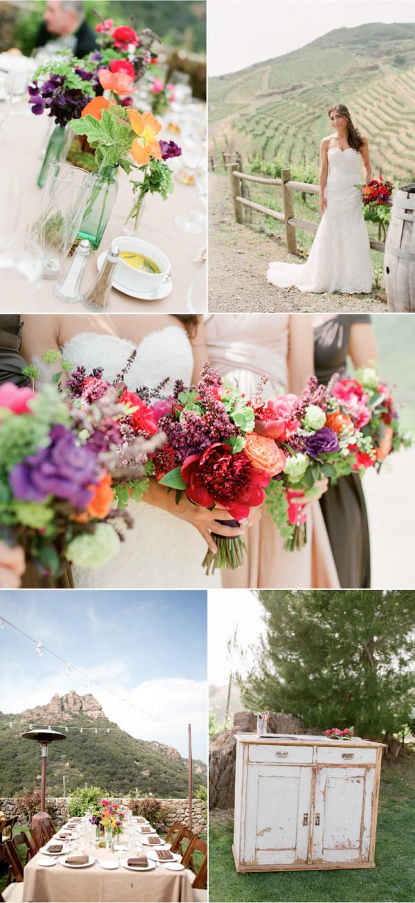 Love this idea for a NorCal wedding, winery wedding.