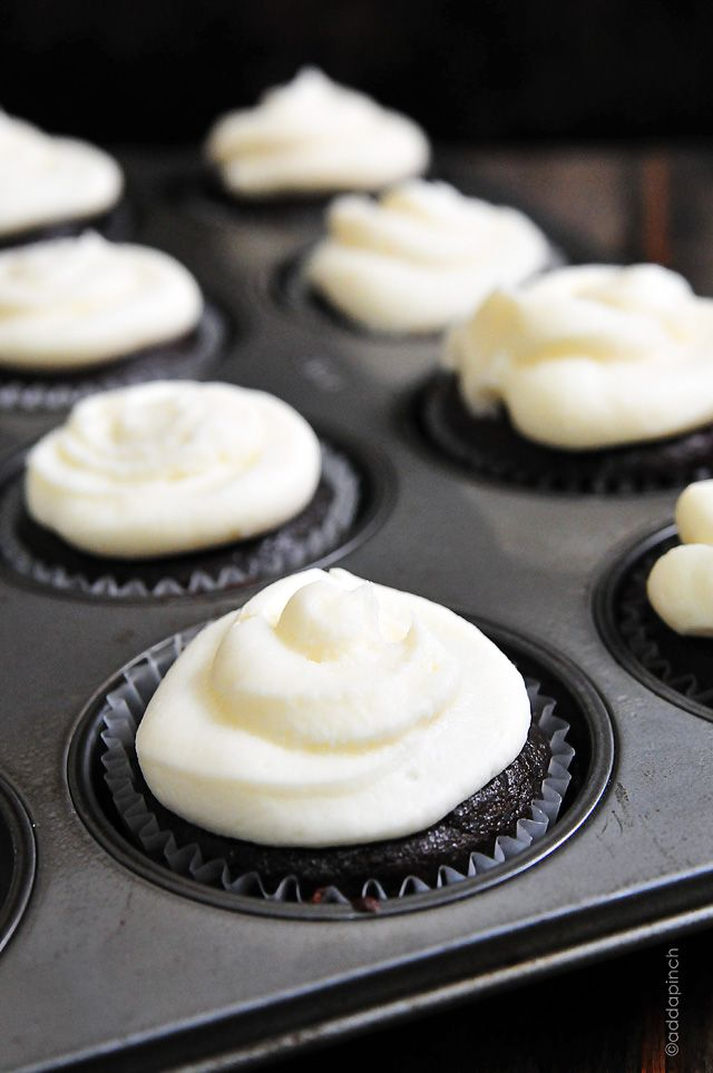 Best Chocolate Cupcakes with Vanilla Buttercream Frosting Recipe from addapinch.com