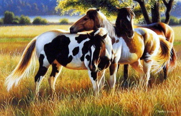 Wildlife Artist Cynthie Fisher Wild Horses Art Print Wild Prairies | WildlifePrints.com