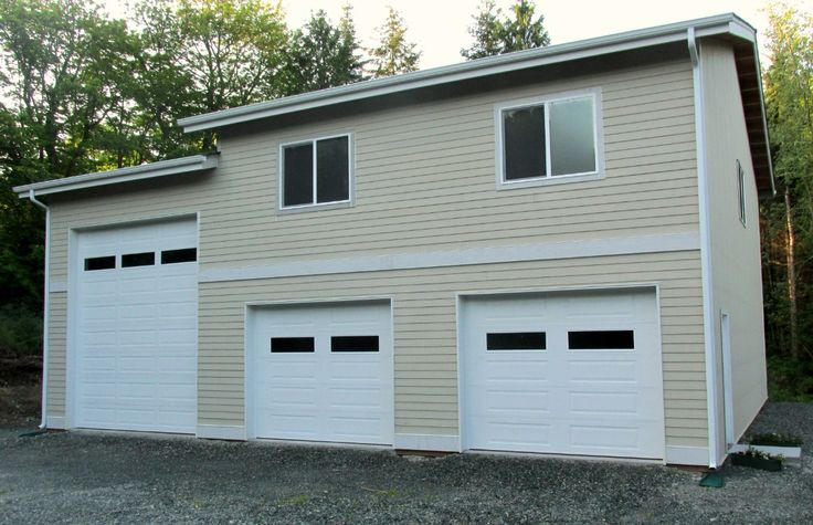 Post frame garage with rv storage and space to live or for Rv buildings garages