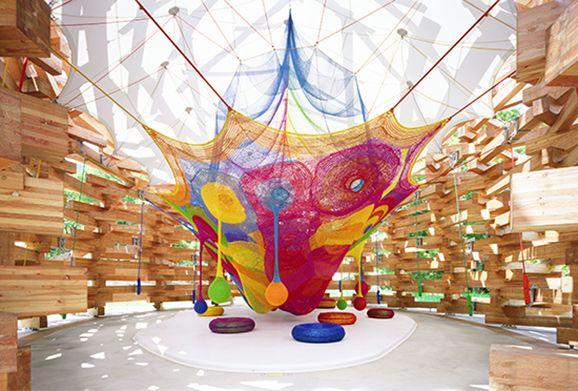 ネットの森 箱根 彫刻の森美術館 THE HAKONE OPEN-AIR MUSEUM - キッズ・ファミリー - プレイスカルプチャー