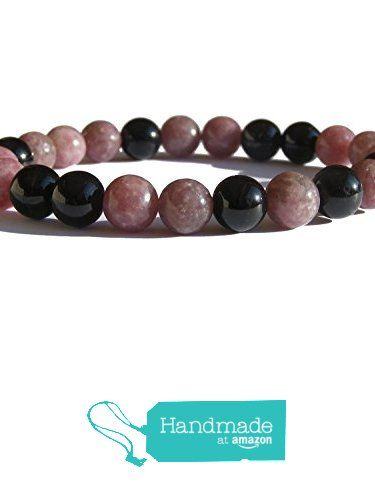"ZENstore Black Tourmaline Certified and Lepidolite Healing Bracelet Natural Gemstones size 0.3"" 8mm Chakra Balance Protection Positivity from ZENstore https://www.amazon.com/dp/B071WC6371/ref=hnd_sw_r_pi_dp_hjrozb1R53Y4S #handmadeatamazon  #Zenstore #chakra #gemstone #jewellery #fashion"