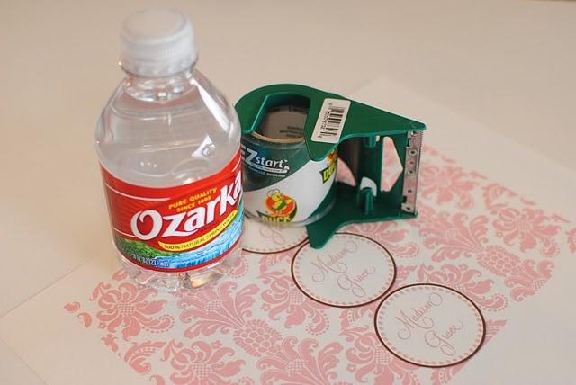 Diy water bottle labels crafts pinterest crafts for Diy mineral water bottle