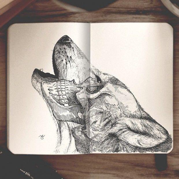 Artiste autodidacte et graphiste, Joseph Catimbang crée des dessins visuellement complexes en utilisant uniquement des stylos noirs et un carnet de croquis.
