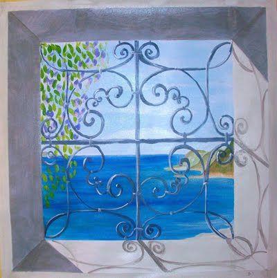 Trompe l'oeil, finta finestra sul mare