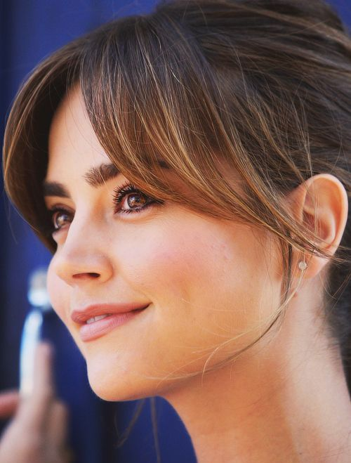 Jenna Coleman Side Swept Bangs | Full Dose