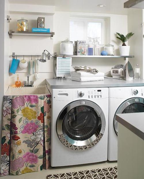 Stylish home: Laundries and mudrooms: Laundryrooms, Sink Skirt, Utility Sink, Skirts, Laundry Sinks, Laundry Rooms, Room Ideas, Fabric, House Idea