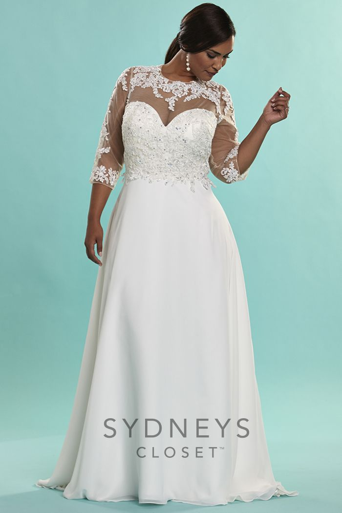 93 best plus size wedding gowns images on pinterest for Plus size wedding dresses size 32 and up