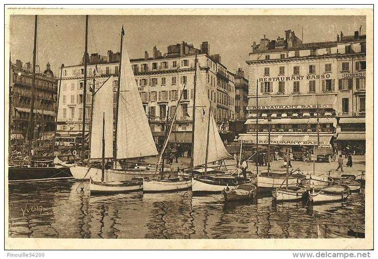 Restaurant Basso - Un coin du Vieux Port - 1945