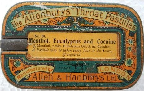 The restorative powers of cocaine: it was added to pastilles for teething children, throat lozenges for flu and colds, and as a cure for hay fever.