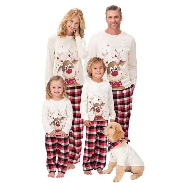 Dear Christmas Pajamas Set For Family Christmas Pajama Set Matching Christmas Pajamas Matching Family Outfits