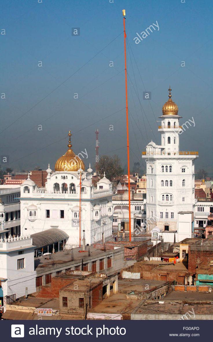 Download this stock image: Guru Tegh Bahadur sahib gurudwara at Baba Bakala ; Amritsar ; Punjab ; India - FG0APD from Alamy's library of millions of high resolution stock photos, illustrations and vectors.