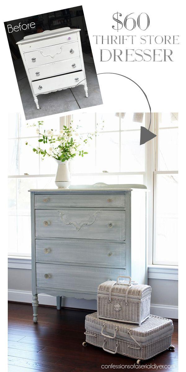 60 Thrift Store Dresser Makeover White Washed Furniture Furniture Furniture Makeover Diy